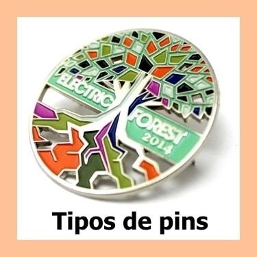 Tipos de pins personalizados